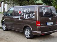 Polep auta - Open Wine