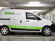 Polep auta - SLD Stavební