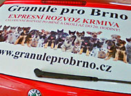 Zadní okno - Granule pro Brno