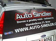 Zadní okno - Auto Šindler