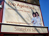 Polep výlohy - Top Agentura